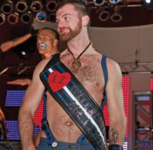 Woody Woodruff wearing his IML sash